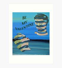 Be My Valentine, Two heads Art Print