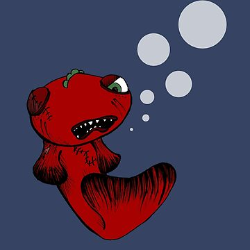 Grumpy fish by LucyNuzit