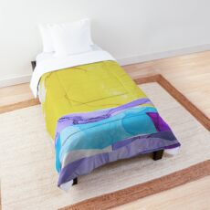 Daiquiri Sunrise Abstract Landscape Comforter