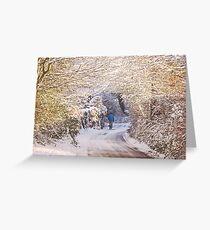 Walking in the Snow (Up To Bittery Cross) Greeting Card