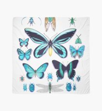 Teal Insect Collection Scarf