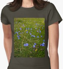 A sea of Harebells, Rossbeg, Co Donegal Women's Fitted T-Shirt