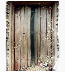 'Hay-Loft Door' - Exterior Trompe L'oeil Painting Poster