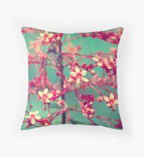 Aquatic Blooms Throw Pillow