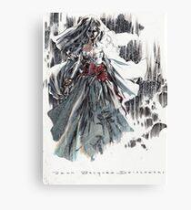 Girl in wedding dress Canvas Print