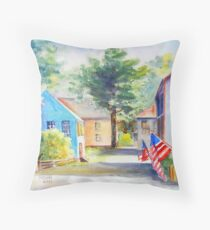 """Sunlit Strawberry Banke"" Throw Pillow"