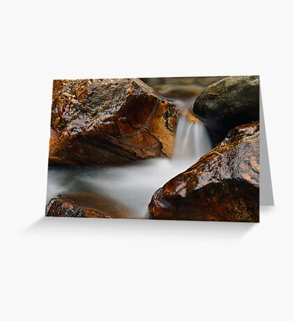 Gold water Greeting Card
