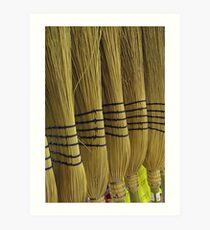 New Brooms Sweep Clean Art Print