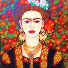 My other Frida Kahlo with butterflies  by Madalena Lobao-Tello