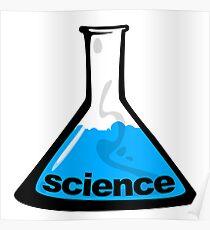 Science Beaker Blue Poster