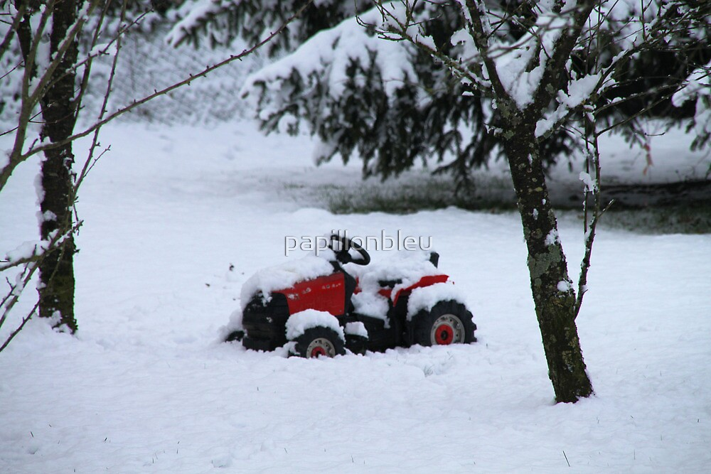 Little Red Tractor by Pamela Jayne Smith