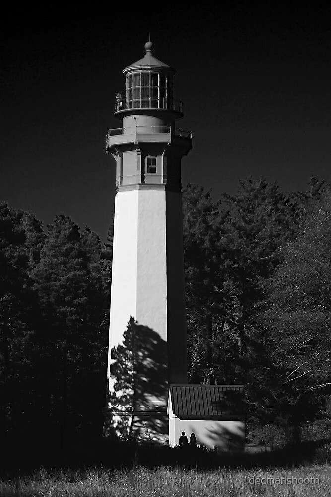 grays harbor lighthouse, westport, washington, usa by dedmanshootn