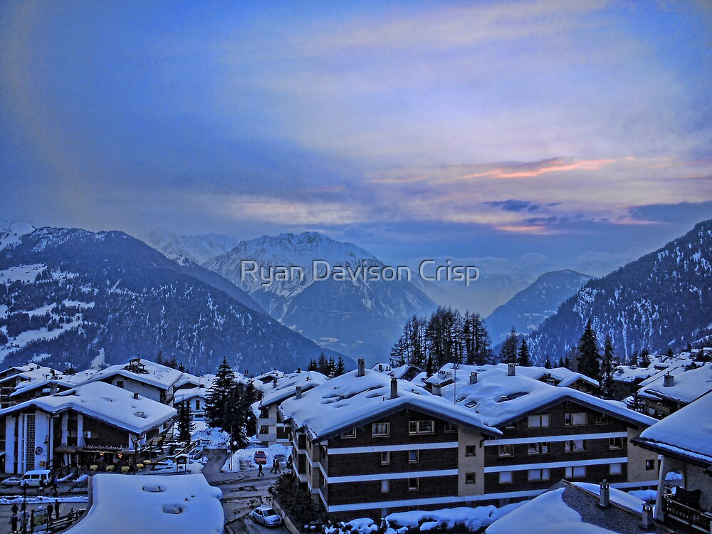 Verbier: Night Closes In by Ryan Davison Crisp