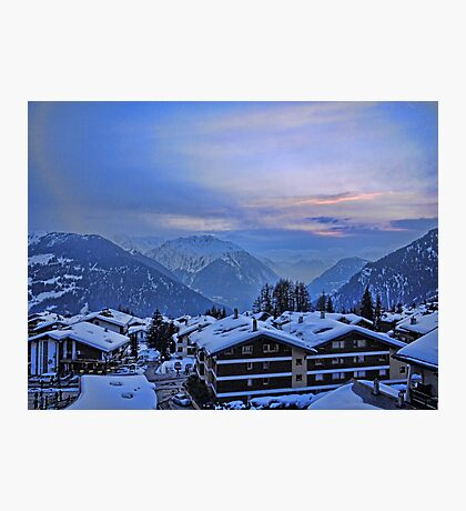 Verbier: Night Closes In Photographic Print