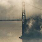 Lions Gate Bridge in Fog by Tracy Riddell