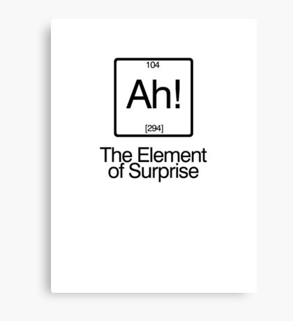 The Element of Surprise Canvas Print