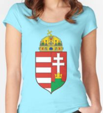 Coat of Arms of the Kingdom of Hungary Fitted Scoop T-Shirt