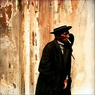 Man at the Cabildo by jeff lamb