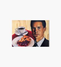 Twin Peaks -- Agent Cooper with a Damn Good Cup of Coffee and A Slice of Cherry Pie Art Board Print