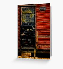 Fishermans Shed door Greeting Card