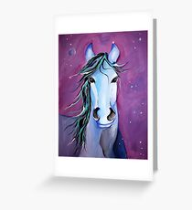 Stellar Whimsical Horse Art by Valentina Miletic Greeting Card