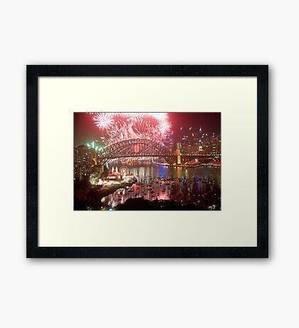 City Of Light - Sydney Harbour New Years Eve  Framed Print