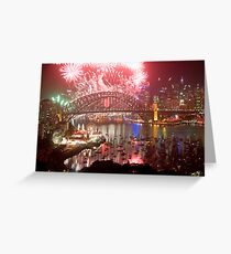 City Of Light - Sydney Harbour New Years Eve  Greeting Card