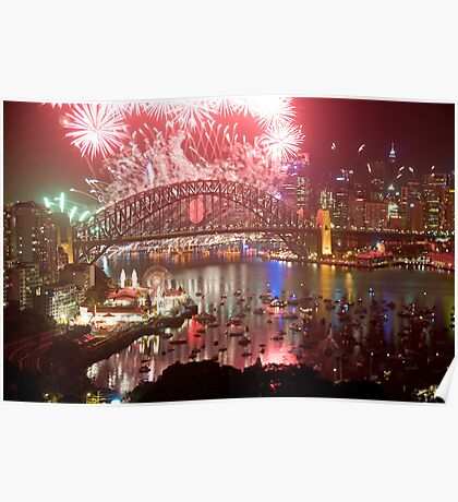 City Of Light - Sydney Harbour New Years Eve  Poster