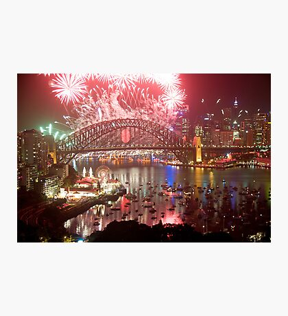 City Of Light - Sydney Harbour New Years Eve  Photographic Print