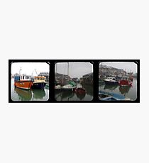 Mevagissey Harbour TTV Triptych Photographic Print