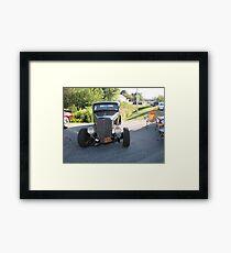 Old Auto,Black Framed Print