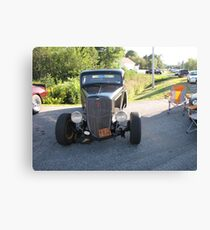 Old Auto,Black Canvas Print