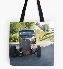 Old Auto,Black Tote Bag
