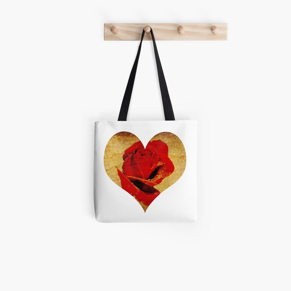Rose,love,grunge,red. Tote Bag