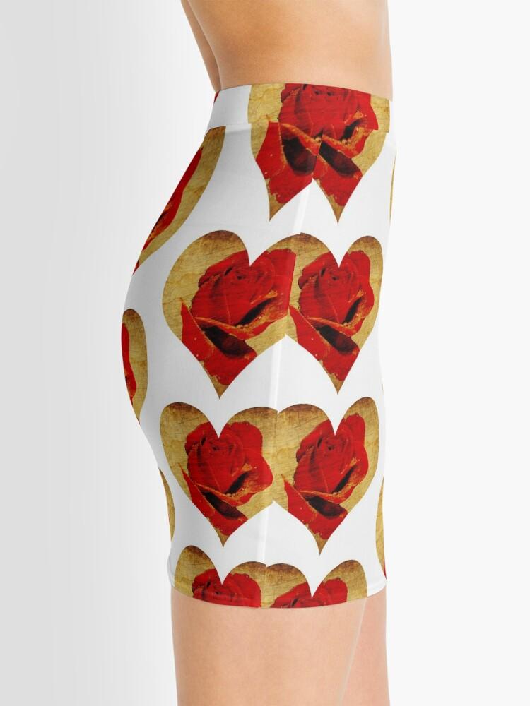 Alternate view of Rose,love,grunge,red. Mini Skirt