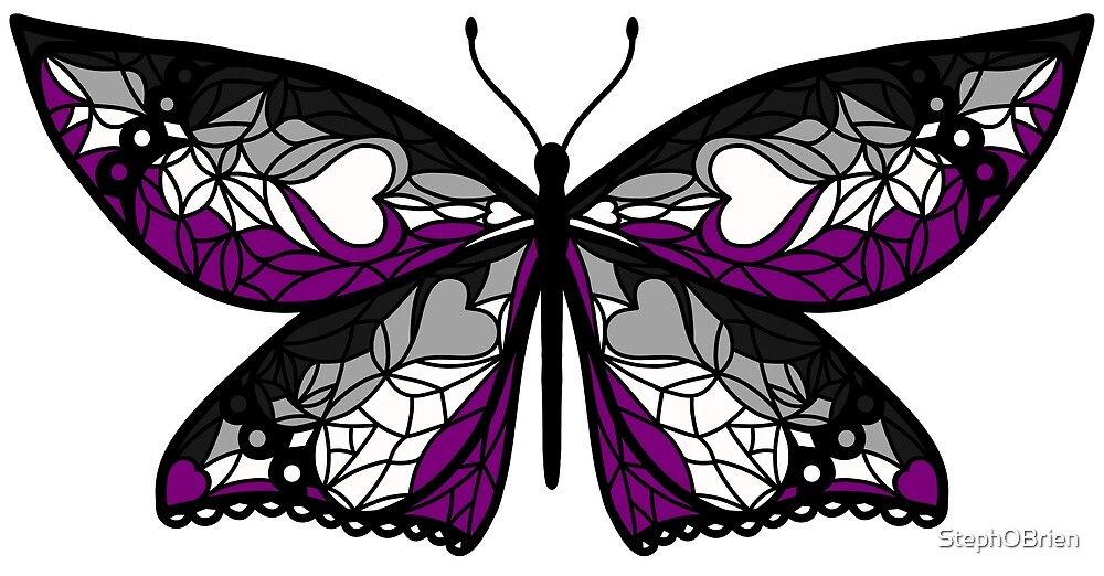 Fly With Pride: Asexual Flag Butterfly by StephOBrien
