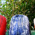Old Colour Wooden Fence by SophieSimone