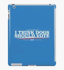 Dogs political campaign (2020) iPad Case/Skin