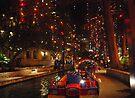 San Antonio Riverwalk in December by Cathy Jones