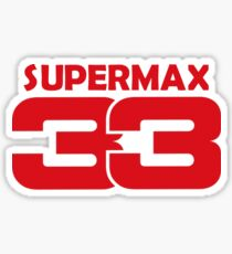 Max Verstappen - SuperMax Sticker