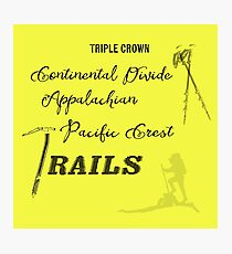 Triple Crown Of Hiking Photographic Print