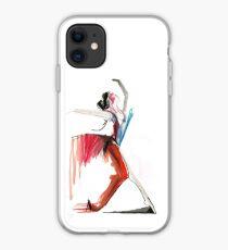 Expressive Ballerina Dance Drawing iPhone Case
