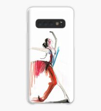 Expressive Ballerina Dance Drawing Case/Skin for Samsung Galaxy
