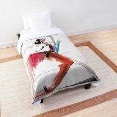 Expressive Ballerina Dance Drawing Comforter