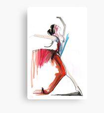 Expressive Ballerina Dance Drawing Metal Print