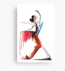 Expressive Ballerina Dance Drawing Canvas Print