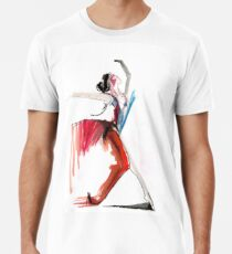 Expressive Ballerina Dance Drawing Premium T-Shirt