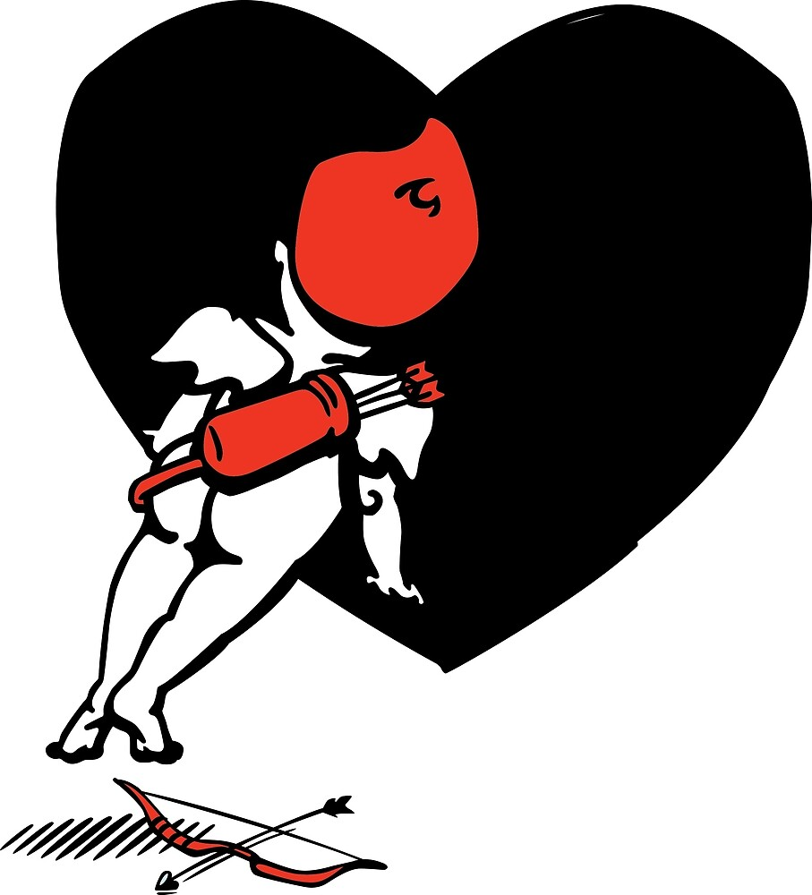 Cupid looking for love by Rancano