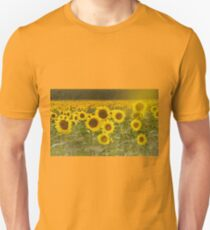 Sunlit field of Sunflowers Unisex T-Shirt