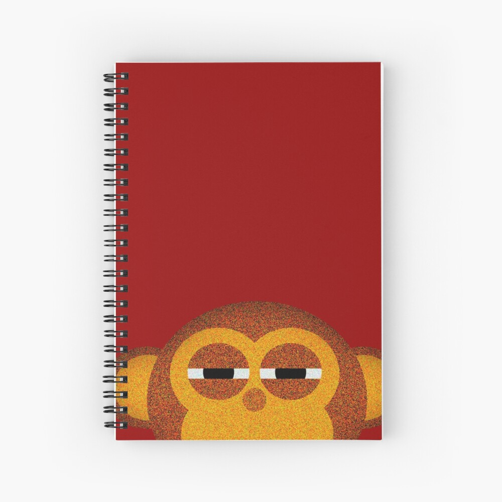 Pocket monkey is highly suspicious Spiral Notebook